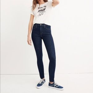 """madewell 10"""" High-Rise Skinny Jeans - Lucille Wash"""